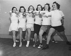 Female students at the University of Washington took on new campus roles during the Depression that challenged gender stereotypes around education, sports, and domestic and social responsibilities. Pictured here is the UW women's fencing team in 1939, made possible by women's entrance into collegiate athletics during the 1930s. (Photo by Ken Harris for the Seattle PI, courtesy of the Museum of History and Industry)
