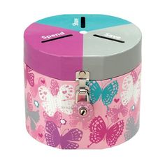 make with 3 separate jars: spend, save, share Kids Money Box, Money Bank, Flylady, Cute Piggies, Product Information, Piggy Bank, Kids Playing, Saving Money, Recycling