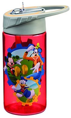 Vandor 90075 Disney Jr. Mickey Mouse Club Tritan Water Bottle, 14 oz, Multicolor * You can find more details by visiting the image link.