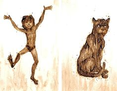 """Check out new work on my @Behance portfolio: """"Coffee Art: """"The Jungle Book""""""""…"""