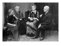 Marie Curie with her brother and sisters in Warsaw, 1912