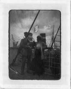 Albert and Sylvia Caldwell and their son, Alden, pose on the Titanic before the ship's fateful journey in April 1912.  They survived.
