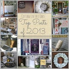 Cottage in the Oaks - Top Home Decor Posts of 2013 #diy