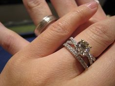 I like the straight band with the swirl design of the ring together