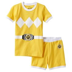 Girls 4-10 Power Rangers Yellow Ranger Pajama Set