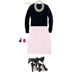 pearls by lilyquaale on Polyvore featuring мода, J.Crew, Carven, Kenneth Jay Lane, Kate Spade, NARS Cosmetics and Essie