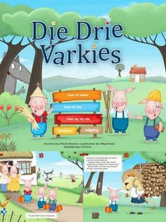 ‎Die Drie Varkies – LAPA/Full Circle-animasiestorieboek on the App Store Preschool Worksheets, Preschool Learning, Teaching, Afrikaans Language, Kids Poems, School Readiness, Stories For Kids, Infant Activities, Raising Kids
