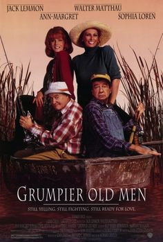 Grumpier Old Men Poster Movie Jack Lemmon Walter Matthau Ann-Margret Sophia Loren - - Grumpier Old Men reproduction Approx. Size: 11 x 17 Inches - x Style A mini poster print Pop Cultu Jack Lemmon, Internet Movies, Movies Online, Bambi, Grumpy Old Men, Movies Worth Watching, Man Movies, Old Comedy Movies, 1995 Movies