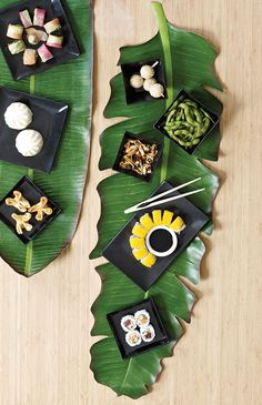 BaliHai Fern Leaf Table Runner by Design Ideas. // Serve it.