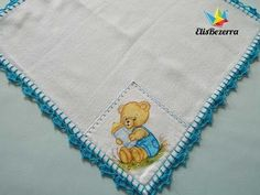 Waldineia Santos shared a video Crochet Cord, Crochet Bear, Baby Blanket Crochet, Diy Crochet, Crochet Edging Patterns, Crochet Borders, Crochet Designs, Embroidery Stitches, Embroidery Patterns