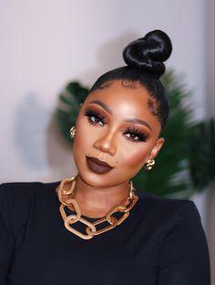 Eyebrow Makeup Tips, Beauty Makeup Tips, Beauty Hacks, Hair Beauty, Black Girl Makeup, Girls Makeup, Love Makeup, Simple Makeup Looks, Natural Makeup Looks