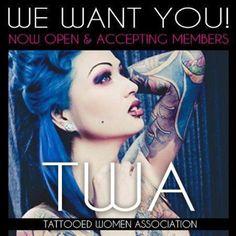 Repin it!!  Join the Tattooed Women Association on Facebook!! http://www.facebook.com/TattooedWomenAssociation