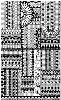 Zentangles are doodles & borders  #journal by kristin