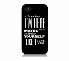 One Direction Quote Iphone 4 case by IphoneDesign on Etsy, $16.99 LOVE IT