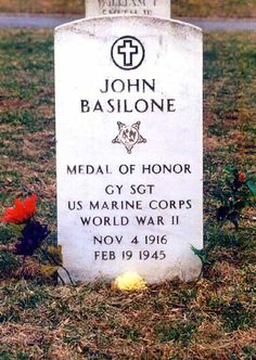 """John Basilone - World War II Congressional Medal of Honor Recipient. Known as """"Manila John"""", he was one of the first Marines to be awarded the Medal of Honor during World War II."""