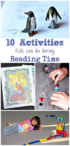 Perfect for active kids!  Fun things for kids to do during read alouds and story time.