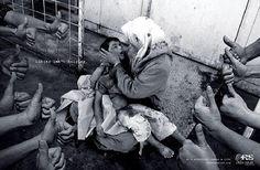 Crisis Relief War print ad