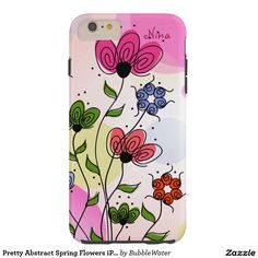 Pretty Abstract Spring Flowers iPad 6 Case Tough iPhone 6 Plus Case