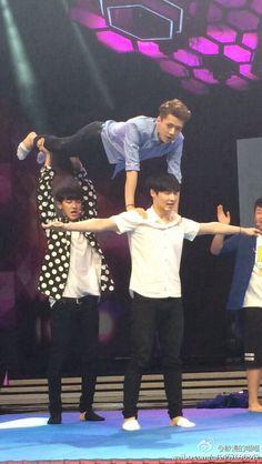 Chanyeol looks like he is dying. Haha :)