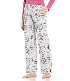 0797d0294c Sleep Sense Holiday Wreaths Printed Knit Sleep Pants