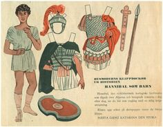 Hannibal / Housewife Cut-Out Dolls From History / Swedish paper dolls | Yakira Chandrani | Picasa Webalbum