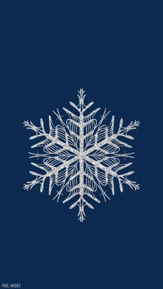 Snowflake Winter Christmas iPhone wallpaper