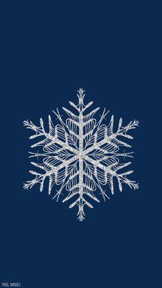Snowflake Winter Christmas iPhone wallpaper