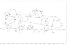 submarine trace line worksheet