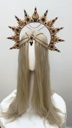 Wedding Tiara Veil, Flower Crown Wedding, Boho Wedding, Wedding Jewelry, Headpiece Jewelry, Hair Jewelry, Boho Hairstyles, Headband Hairstyles, Danza Tribal