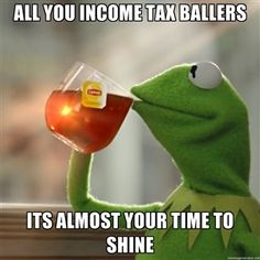 ALL YOU INCOME TAX BALLERS ITS ALMOST YOUR TIME TO SHINE  | Snitching Kermit the Frog
