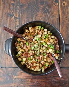 Broccoli Potato and Bacon Hash