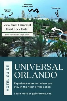 Learn all about the Universal Orlando hotels in this essential guide. Find out about the exclusive perks and tremendous convenience the comes with staying at the Universal Orlando resort. Start your research now and make this your best vacation ever. From GoInformed.net Universal Orlando Hotels, Universal Studios Florida, Orlando Resorts, Orlando Theme Parks, Hard Rock Hotel, Rock Pools, Disney World Vacation, Best Vacations, Natural Pools