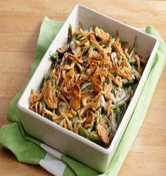 Green Bean Casserole- 2 PointsPlus+, makes 12 servings.