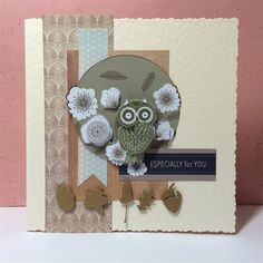 Owl Folk card | docrafts.com Craft Projects, Projects To Try, Men's Cards, Owl Punch, Crafts To Do, Owls, Cardmaking, Stamps, Birthdays