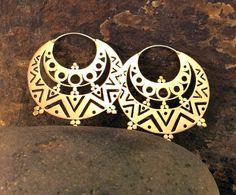 Gypsy Large Brass Earrings by Nishiibo on Etsy