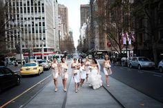 Obsessed with this, I want my wedding party walking the streets of LA with me for SURE.