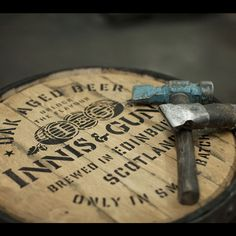 Old Innis & Gunn cask head.
