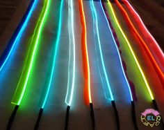 Sewable EL Wire - 1 metre of Tron Glow Wire + Easy Sew Tag Strip *£3.50 a metre* #elwirecraft #Futuristic