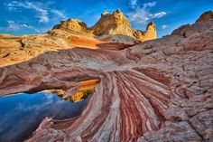 rocky mountain with lake under white clouds blue sky rocky mountain white clouds blue sky vermillion cliffs rock - Object Places To Travel, Places To See, Travel Destinations, Marble Canyon, Michigan Travel, Travel Oklahoma, Venice Travel, Adventure Bucket List, Arizona Travel