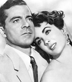 Dana Andrews and Elizabeth Taylor in a promotional photo for Elephant Walk (1954)