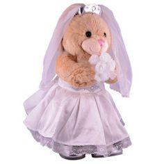 Build A Bear Vanilla Bunny In Wedding Attire