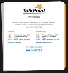 Event Invite Design for TalkPoint