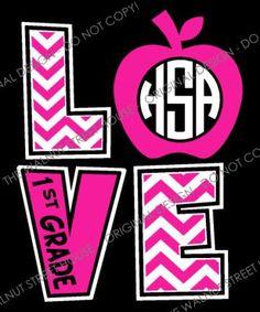 ORIGINAL DESIGN Chevron Love Teacher Shirt by WalnutStreetHouse2