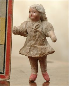 Antique cotton Christmas ornament GIRL