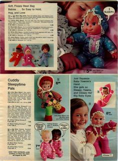 1974-ADVERT-Tiffany-Taylor-Fashion-Doll-Baby-Crissy-Black-Bean-Bag-Babies-Dolls