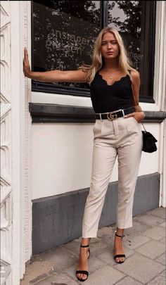 Everyday Outfits Simple, Classy Summer Outfits, Simple Outfits, Fancy Casual Outfits, Casual Outfits Summer Classy, Summer Smart Casual, Nude Outfits, Chic Outfits, Fashion Outfits