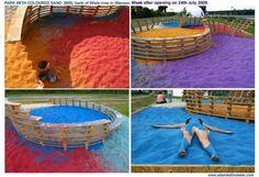 Adam Kalinowski: Park with Coloured Sand