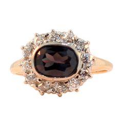 Russian Alexandrite and Diamond Ring Gubelin Certification thumbnail 1