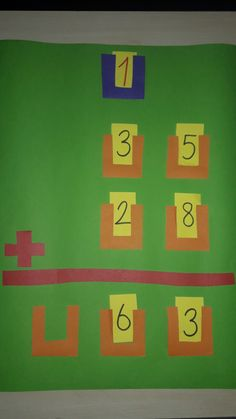 Addizione con riporto Math For Kids, Fun Math, Math Games, Creative Teaching, Teaching Math, Number Flashcards, Math Boards, Primary Maths, Math Addition