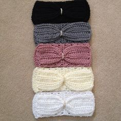 "The ""Lola"" Bow Headband-- NEW FREE crochet pattern from Sadie's Basket!!"